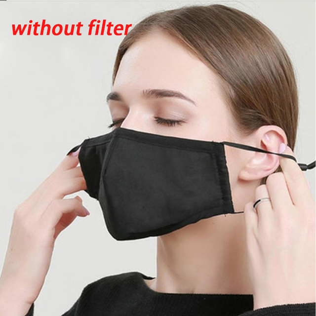 1pcs Cotton Dust Face Mask Can Put PM2.5 Face Mask Filter Anti Flu Air Pollution Masks Anti Dust Mask For Mouth Dust Fog Maker