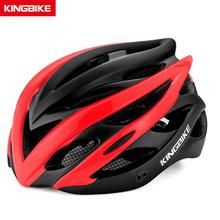 KINGBIKE czerwony kask rowerowy Road Mountain kaski rowerowe odpinany daszek Casco Ciclismo MTB kolarstwo Woment rowerowy kask rowerowy tanie tanio (Dorośli) mężczyzn J652 230 7g 20 Integrally-molded Helmet Cycling Helmet Ultralight Integrally-molded mtb helmet