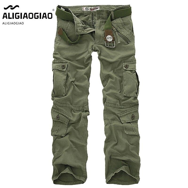 Pantalones Cargo de camuflaje táctico para hombre, pantalón militar de estilo militar, con múltiples bolsillos, pantalón suelto de tendencia al aire libre, pantalón de trabajo, gran oferta