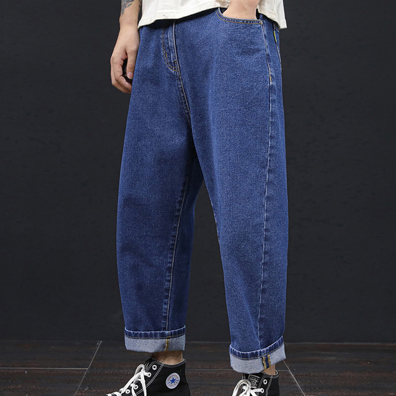 Plus Size 42 44 46 48 Men Jeans Spring And Summer Jeans Loose And Fat Increase The Trend Wide Leg Jeans Pants Men