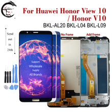 """5.99 """"Lcd Voor Huawei Honor View 10 Lcd scherm Touch Sensor Digitizer Vergadering Honor V10 BKL L04 BKL L09 Display + Frame"""