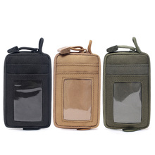 Wallets-Holder Pouch Keychain Pocket Tactical-Bag Zipper Waterproof Purses Case-Pack