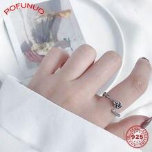 Женские кольца pofunuo 925 пробы серебряное кольцо в винтажном