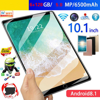 10.1 Inch Google Play Store Tablets PC 10 Core 6G+128GB ROM Dual SIM 5.0 MP GPS Android 9.0  Tablet 4G LTE Metal Back Shell