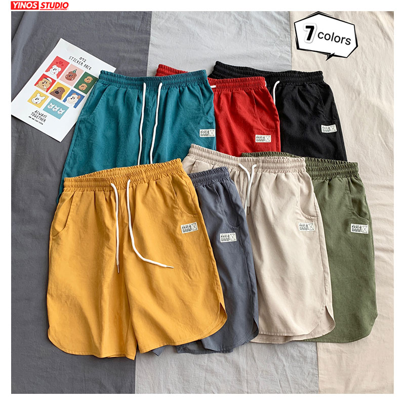 Dropshipping 7 Colors Men's Summer Shorts 2020 Fashion Elasticated Waist Male Casual Short Pants 5XL Sweatpants