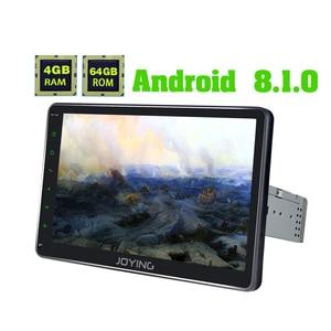 JOYING single din 10,1 дюймов IPS Универсальное автомобильное радио Android 8,1 Восьмиядерный 4 Гб ОЗУ 64 Гб ПЗУ поддержка 4G 1280*720 GPS лента recoder