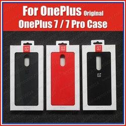 Оптовые цены (товар) оригинальный 100% Oneplus 7 Pro Чехол Oneplus 7 силиконовый чехол Официальный сток песчаник Karbon