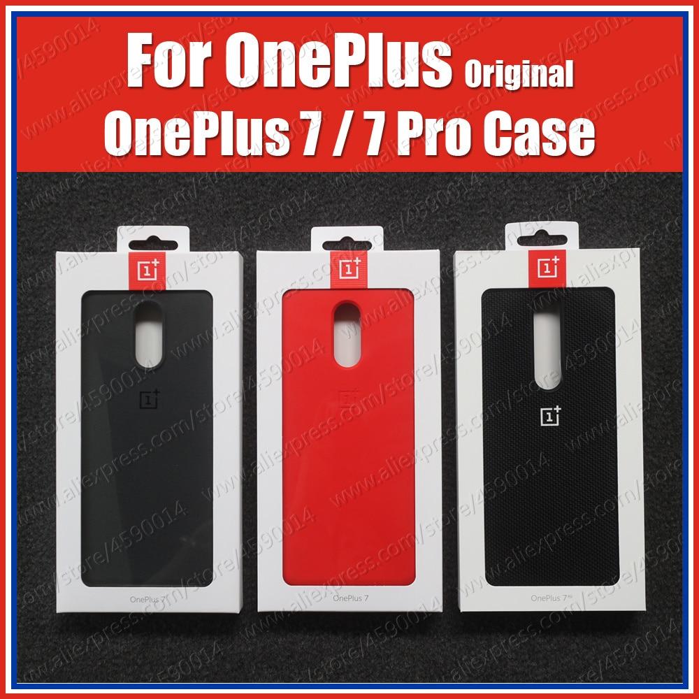 Preços a granel (produto) original 100% oneplus 7 pro caso oneplus 7 silicone capa oficial estoque arenito karbon