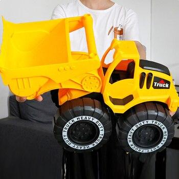 Clássico simulação de simulação de carro de engenharia escavadeira de brinquedo modelo de trator de brinquedo de caminhão basculante modelo de carro de brinquedo mini para o miúdo menino presente