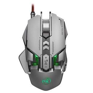 Image 3 - RGB metalowa mysz Gamer podświetlana mechaniczna przewodowa mysz 7 klawiszy 6400DPI regulowana definicja mysz do gier Gamer na PC Laptop