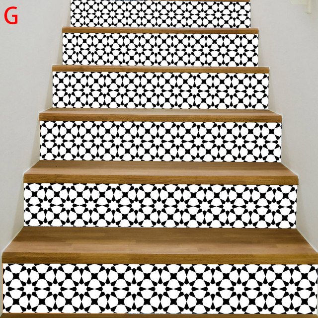 3D DIY Stairs Risers Stickers Removable Wallpaper Staircase Stickers Self Adhesive Christmas Santa Tile Stair