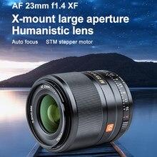 Viltrox 23mm f1.4 xf af 23/1.4 stm foco automático lente de foco fixo para fujifilm fuji x-montagem X-T3 X-H1 x20 X-T30 X-T20 x pro3 câmera