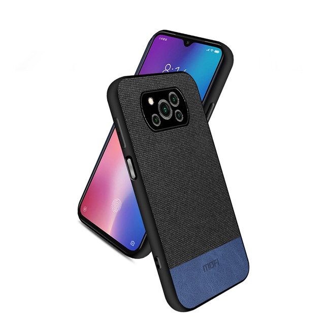 For POCO X3 NFC Case Fabirc Leather Back Cover POCO X3 Case For Xiaomi Poco X3 Shockproof Cover Luxury Bussiness Style Fundas
