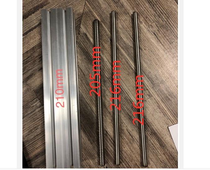 Customized slide length 210mm CNC ST T8*4 Ballscrew Sliding Table +1pc nema 23 stepper motor XYZ axis Linear motion