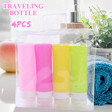 4pcs/Set 80ml Empty Spray Bottle Plastic Mini Refillable Container Cosmetic Containers For Traveling With PVC Storage Bag