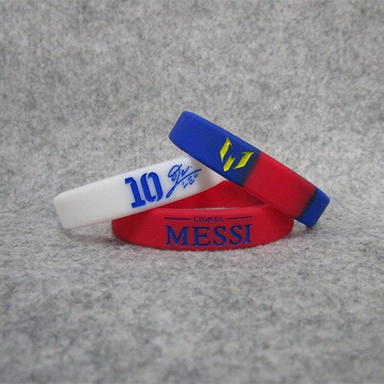 Barcelona Football Star Meixi Barcelona Signature Luminous Sports Bracelet Color Mixing Silicone Wrist Strap Fans Accessories