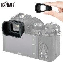 Kiwi visor de silicona blanda de copa ocular extendida para cámara Nikon Z50, ocular de copa larga para ojos, sustituye a Nikon DK 30, Protector de pantalla