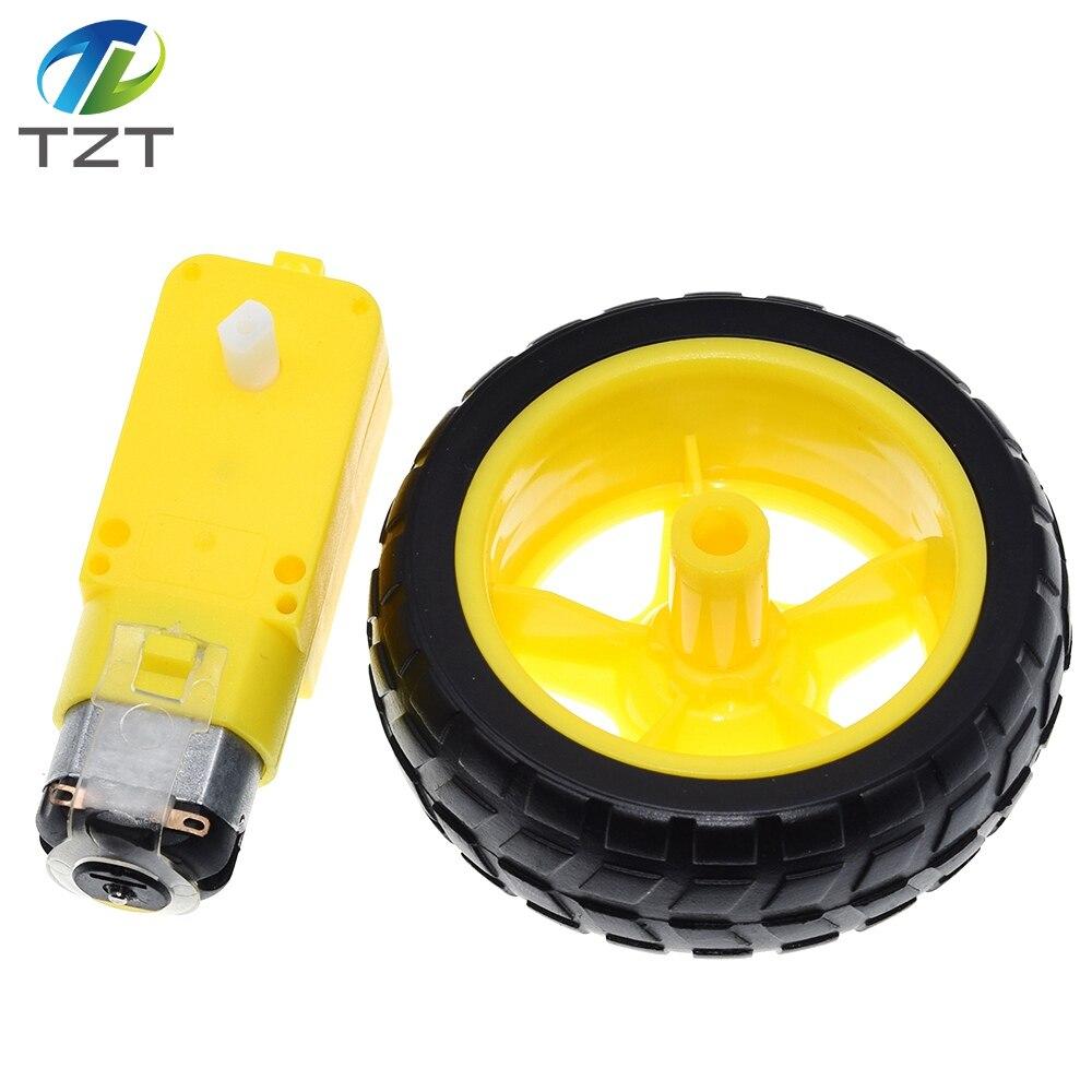 Motor da c.c. da desaceleração + rodas de apoio, a/chassi esperto do carro, motor/carro do robô roda o motor da engrenagem com roda