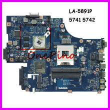NEW70 LA-5891P Para Acer aspire 5741 5741G Laptop Motherboard MBWJR02001 HM55 DDR3 HD5740 CPU Livre