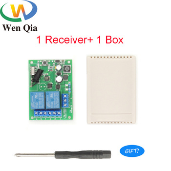 цена на 433Mhz Universal Wireless Remote Control Smart Switch AC 85V ~ 250V 2CH Relay Receiver Module Light Lamp Motor IntellienceHome