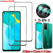 5-in-1стекло, glass case for honor 30 s tempered glass screen protector honor30 s huawei honor-30s camera lens film honor 30s