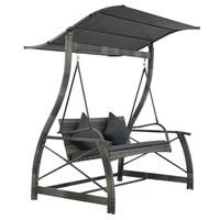Original Garden Swing Seat VidaXL Waterproof Swing Garden Chair Outdoor Furniture Braided Frame Swinging Chairs 167x130x178 Cm