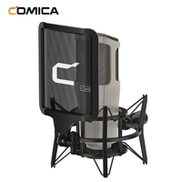 COMICA STM01 Condenser Cardioid Microphone 34mm Large Diaphragm Mic XLR Plug+Pop Shield Shock for Studio Vocal Recording