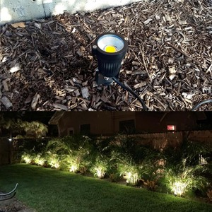 Image 4 - 9W 7W 5W 3W Led Garden LED Lamp 110 V 220V COB Outdoor Landscape spotlight with Spike Base IP65 Garden Yard Pathway Lawn Light