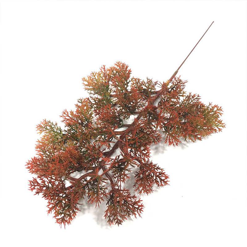 Artificial gran rama verde pino simulación hojas planta de bienvenida bonsái de pino accesorios planta para decoración del hogar flor falsa