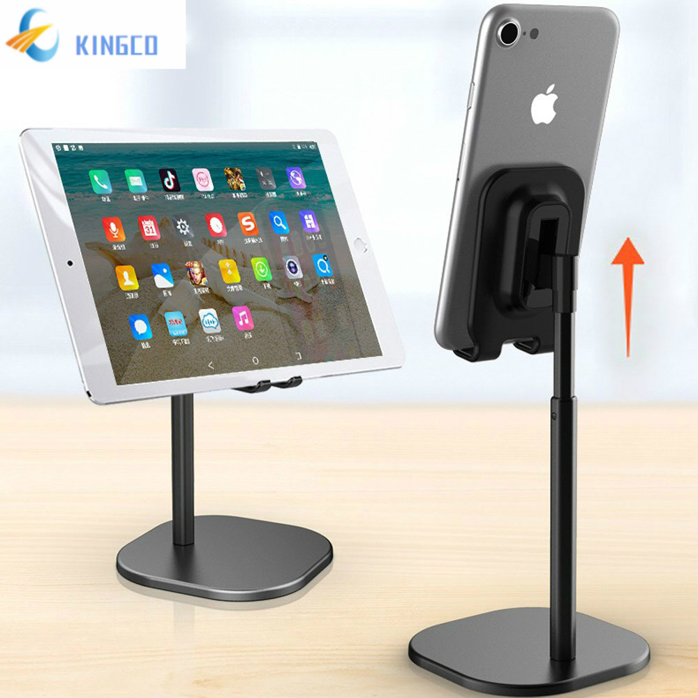 Elevated Desk Stand For Phone Tablet Aluminum + ABS Height Adjustable Holder For Smartphone Samsung IPhone IPad