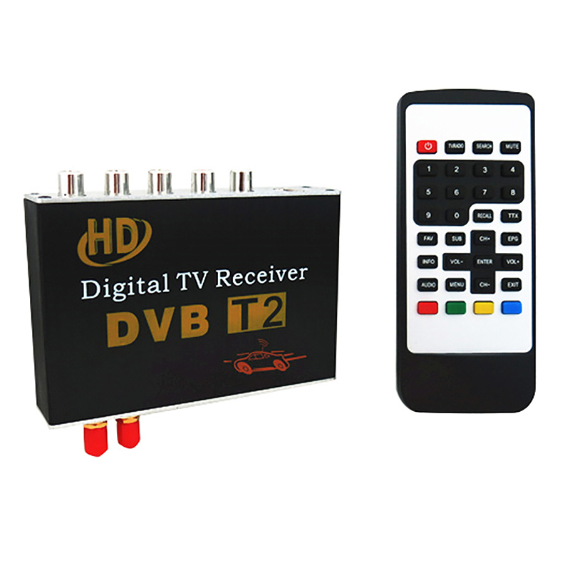 M-718 Antenna 2 Tuner Car HD <font><b>DVB</b></font>-<font><b>T2</b></font> 4 Video Output Cars Digital <font><b>TV</b></font> Turner Receiver <font><b>Tv</b></font> <font><b>Box</b></font> <font><b>Dvb</b></font> <font><b>T2</b></font> 120-150KMH Russia Hot image