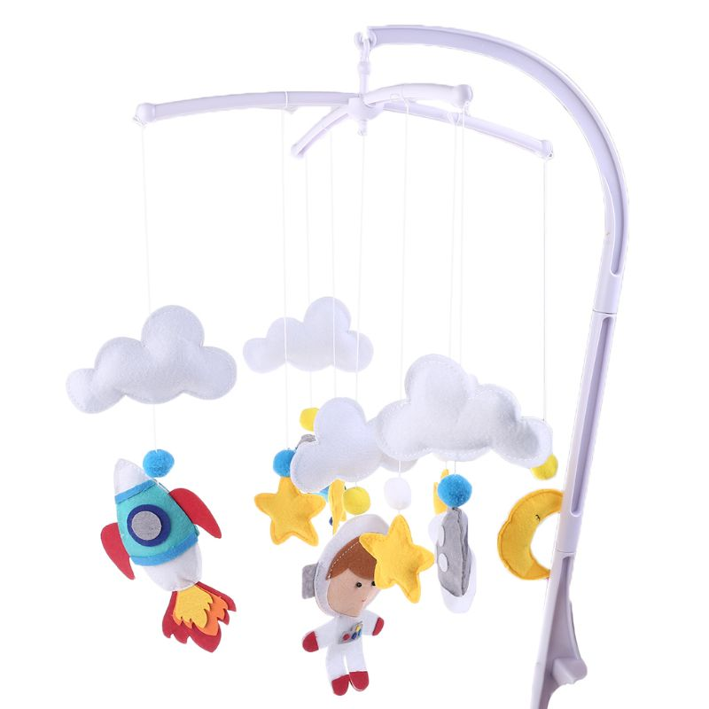 Baby Cloud Star Mobile Rattles Toys Handmade Non-woven Bed Bell Wind Chimes Kid Children Room Bed Stroller Hanging Decoration