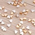 100 шт. 6x6 мм маленькие бусины-разделители из сплава в виде сердец подходят для браслетов DIY ожерелья ручной работы в поисках ювелирных украше...