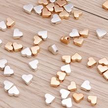 100 pçs 6x6mm pequena liga corações espaçador contas encantos caber diy pulseiras colares artesanal encontrando jóias acessórios