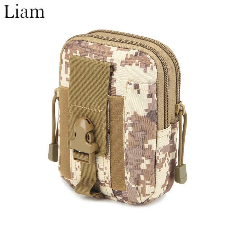 Liam Multifunctionele Heuptas voor Mannen in Outdoor Waterdichte Oxford Gemakkelijk Carry Telefoon Kleine Ding Zwart Camouflage ww2