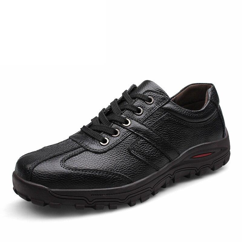 Hommes chaussures en cuir nouveaux hommes chaussures habillées bout carré messieurs chaussures en cuir à la mode affaires Style sans lacet baskets * 9017