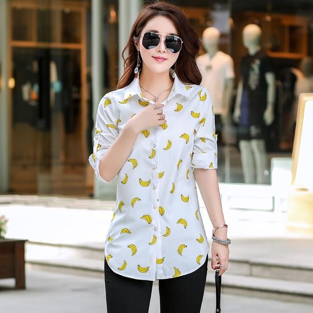 New Fashion Print Blouses Women Long Style Shirts 2019 Cotton Ladies Tops Long Sleeve Blusas Femininas Plus Size Women Clothing 5