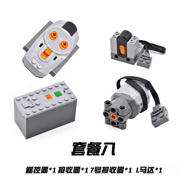 Teknik parçaları motor setleri çok güç fonksiyonları aracı servo taşları tren 8293 8883 motor PF modeli kitleri yapı bloğu yüksek kaliteli