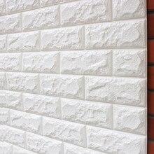 Papel pintado con efecto de ladrillo blanco 3D rollo de luz gris moderno Vintage rústico vinilo PVC falso ladrillo pared papel sala de estar dormitorio Decoración