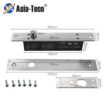 5 przewodów zamek elektryczny wyjście magnetyczne z zegarem DC12V wpuszczany zamek drzwiowy Fail Safe fail bezpieczny rygiel wpuszczany zamek drzwiowy NC NO tanie i dobre opinie Asia-Teco LK009