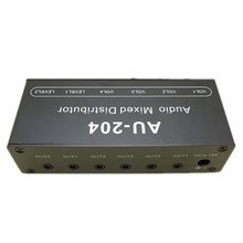 AU 204 סטריאו אודיו מיקסר מפיץ אות בורר switcher 2 קלט 4 פלט 3.5MM בנפרד שולט אוזניות מגבר