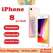Oryginalny odblokowany Apple iPhone 8 4.7 cala 3D Touch ID NFC RAM 2GB ROM 64GB/256GB Smartphone 12.0MP A11 hexa-core Apple pay Phone