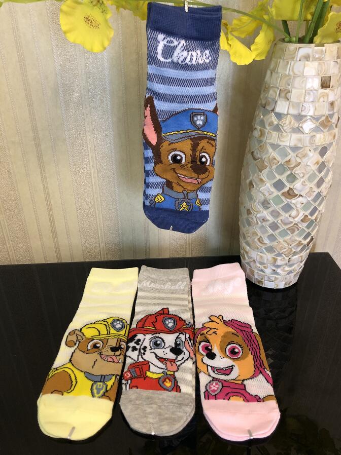 2020 Hot Genuine Paw Patrol Cute Sock Spring Summer Cotton Socks Chase Skye Marshall Rubble Children Toy Doll Birthday Gift