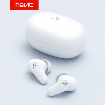 HAVIT TWS True Wireless Earphone ANC Active / ENC Call Noise Canceling / Transparent / Normal Mode 20h Playback Time White/Black колонки havit e5 black