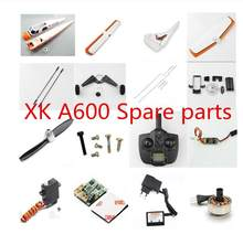 XK A600 RC Airplane Spare parts propeller motor ESC servo Landing rod wing receiver transmitter charger line plastic parts etc.(China)