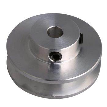 31x15 ilver Aluminum Alloy Single Groove 5MM 6MM 7MM Fixed Bore Pulley for Motor Shaft 3
