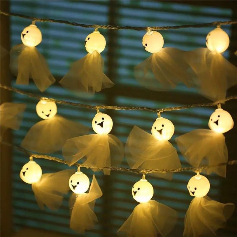 Купить 20 40 светодиодный светильник в форме куклы призрака для хэллоуина