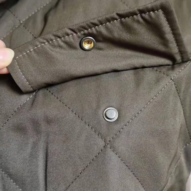 Womens Vest Army Green Lapel Sleeveless Jacket 2021 Fashion Large Pocket Design Waistcoat Streetwear Tops 5