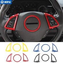MOPAI ABSภายในรถพวงมาลัยฝาครอบตกแต่งสติกเกอร์สำหรับChevrolet Camaro 2017 รถอุปกรณ์จัดแต่งทรงผม