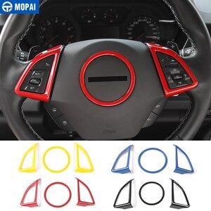 Image 1 - MOPAI ABS voiture intérieur volant décoration couverture garniture autocollants pour Chevrolet Camaro 2017 Up voiture accessoires style